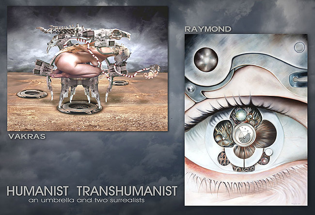 Humanist Transhumanist an Umbrella and Two Surrealists